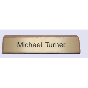 "#30 Deluxe Free Standing Base for Engraved Wall or Desk Sign (2 Lines/2""x10"")"