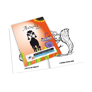 Animals Coloring Book w/ Custom Cover & Stock Coloring Images