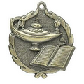 "Medal, ""Lamp-of-Knowledge"" - 1 3/4"" Wreath Edging"