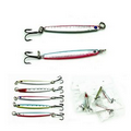 3D Eyes Metal Fishing Lure with Hook - 7 Cm Long
