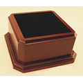 "Signature American-Cherry-Finish Wood Base (3 1/2""x5 3/4""x5 3/4"")"