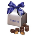Chocolate Peanut Butter Meltaways in Silver Gift Box
