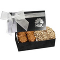 The Executive Almond Butter Crunch & Cashew Turtles Box - Black