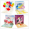 Fashion 3D Paper Gift Animal Element Cards