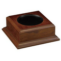 "Walnut Finish 6"" Bowl Platform Base"