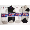 Man Sports Socks White Gray Black Assorted