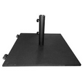 "19"" Square 70 lb. Umbrella Base with Wheels and Black Powder Coated Finish"