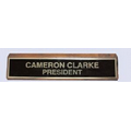 "#30 Deluxe Free Standing Base for Engraved Wall or Desk Sign (2 Lines/2""x8"")"