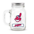 CLEVELAND INDIANS GLASS MASON JAR w/chocolate baseballs