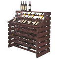 Modularack  Pro Stained Waterfall Deluxe Fixture (204 Bottle Rack)