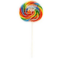 3oz Rainbow Whirly Pop with a custom full color label