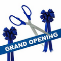 "Grand Opening Kit-36"" Ceremonial Scissors, Ribbon, Bows (Silver/Blue)"