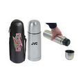 12 Oz. Stainless Steel Vacuum Insulated Bottle w/ Case & Strap