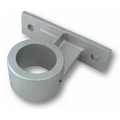 "Satin Silver Cast Aluminum Mounting Bracket for 3"" Diameter Pole"