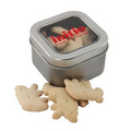 Window Tin with Animal Crackers