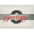 "Wreath Greetings Holiday Greeting Card (5""x7"")"