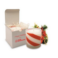 11 Oz. Candy Cane Holiday Candle - Frosted Tumbler
