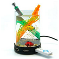 Round Pen Interface Aquarium USB Hub - 4 Port