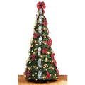 "Thomas Kinkade Pop-Up 6 Foot Christmas Tree - 32"" Diameter"