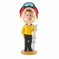 Ski Single Bobble Head
