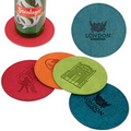 iPosh PU Leather Round Coaster (Teal Green)