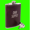 Coleman Leather Covered Tailgater Flask (Printed)