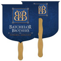 Digital Coat of Arms Fast Fan w/ Wooden Handle & 2 Sides Imprint (1 Day)