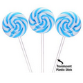 Petite Swirly Ripple Lollipops - Blue Raspberry