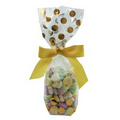 Mug Stuffer Gift Bag w/ Conversation Hearts - Gold Dots